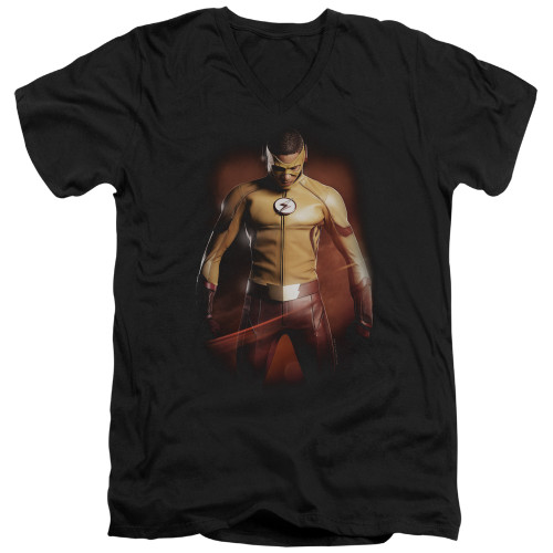 Image for The Flash TV V-Neck T-Shirt - Kid Flash