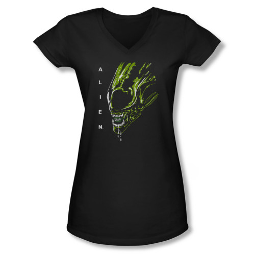 Image for Alien Girls V Neck T-Shirt - Acid Drool
