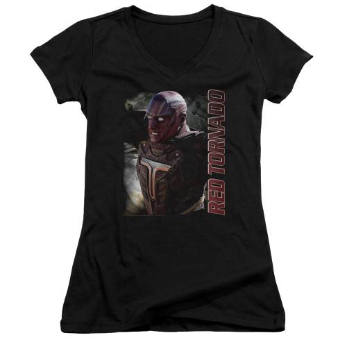 Image for Supergirl Girls V Neck T-Shirt - Red Tornado