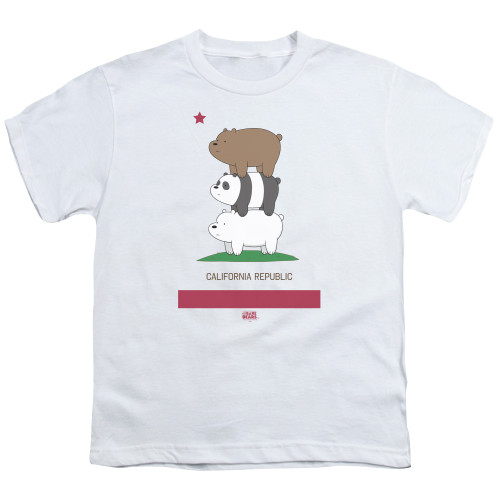 Image for We Bare Bears Youth T-Shirt - Cali Stack
