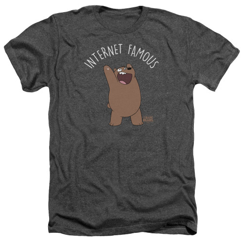 Image for We Bare Bears Heather T-Shirt - Internet Famous