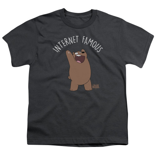 Image for We Bare Bears Youth T-Shirt - Internet Famous