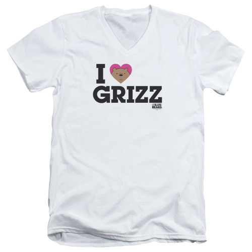 Image for We Bare Bears V Neck T-Shirt - I Heart Grizz