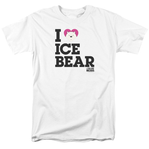 Image for We Bare Bears T-Shirt - I Heart Ice Bear