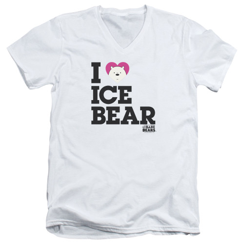 Image for We Bare Bears V Neck T-Shirt - I Heart Ice Bear
