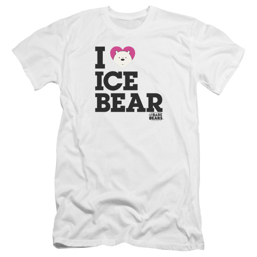 Image for We Bare Bears Premium Canvas Premium Shirt - I Heart Ice Bear