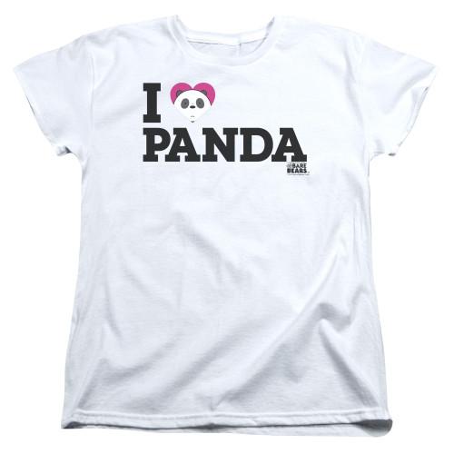 Image for We Bare Bears Womans T-Shirt - I Heart Panda