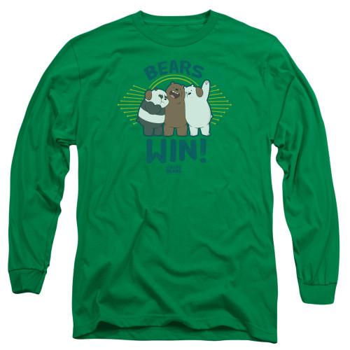 Image for We Bare Bears Long Sleeve Shirt - Bears Win