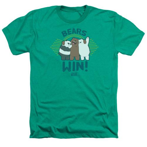 Image for We Bare Bears Heather T-Shirt - Bears Win