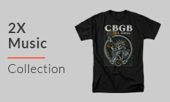 2X Shirts from Music and Rock Bands