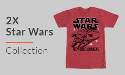 2X Shirts from Star Wars