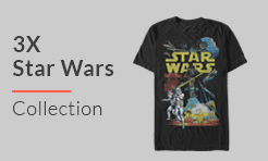 3X Star Wars T-Shirts