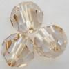 Swarovski 5000 10mm Round Beads Crystal Golden Shadow  (144 pieces)