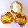 Swarovski 5000 4mm Round Beads Topaz AB  (72 pieces)
