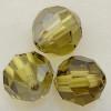 Swarovski 5000 6mm Round Beads Lime Satin  (36 pieces)