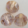 Swarovski 5000 8mm Round Beads Light Amethyst Champagne  (12 pieces)