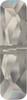 Swarovski 5534 23mm Column Bead  (one hole) Crystal Silver Shade