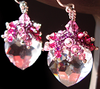 Learn how to make these beautiful Heart earrings with step-by-step instructions here: http://bit.ly/CrystalHeartEarrings