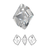 Swarovski 6680 14mm Cosmic Pendant Crystal Silver Shade (4  pieces)