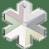 Swarovski 6704 20mm Snowflake Pendant Crystal AB (3  pieces)