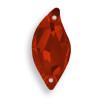 Swarovski 3254 20mm Leaf Sew On x9 Crystal Red Magma