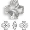 On Sale: Swarovski 6866 20mm Equal Cross Pendant Topaz (3 pieces)