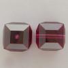 Swarovski 5601 4mm Cube Beads Fuchsia Satin