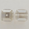 Swarovski 5601 8mm Cube Beads Crystal Silver Shade