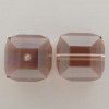Swarovski 5601 8mm Cube Beads Light Rose Satin