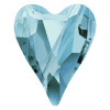 Swarovski 5743 17mm Wild Heart Beads Aquamarine