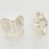 Swarovski 5754 12mm Butterfly Beads Crystal Silver Shade