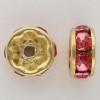 Swarovski 5820 4mm Rhinestone Rondelles Rose