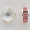 Swarovski 5820 6mm Rhinestone Rondelles Light Rose