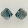 Swarovski 6301 8mm Top-drilled Bicone Aquamarine Satin