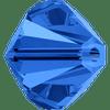 Swarovski 5328 6mm Xilion Bicone Beads Sapphire   (36 pieces)
