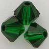 Swarovski 5301 8mm Bicone Beads Medium Emerald