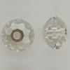 Swarovski 5040 4mm Rondelle Beads Crystal Silver Shade