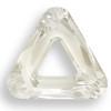 Swarovski 4737 30mm Triangle Beads Crystal Silver Shade