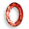 Swarovski 4137 15mm Oval Ring Beads x11 Crystal Red Magma