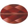 Swarovski 5050 14mm Oval Beads Crystal Red Magma