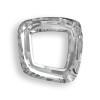 Swarovski 4437 20mm Cosmic Square Ring Beads Crystal Silver Shade