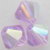 Swarovski 5328 4mm Xilion Bicone Beads Violet AB