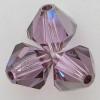 Swarovski 5328 6mm Xilion Bicone Beads Violet Satin