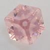 Swarovski 5600 4mm Offset Cube Beads Light Rose