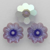 On Sale: Swarovski 3700 10mm Marguerite Beads Tanzanite AB (18 pieces)