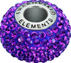 Swarovski 80101 14mm BeCharmed Pavé Beads with Amethyst Chatons on Dark Lila base (12 pieces)