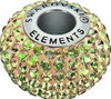 Swarovski 80101 14mm BeCharmed Pave  Beads with Crystal Luminous Green Chatons on Pearl Silk base (12 pieces)