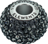 Swarovski 80101 14mm BeCharmed Pavé Beads with Crystal Silver Night Chatons on Black base (12 pieces)