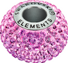 Swarovski 80101 14mm BeCharmed Pavé Beads with Lt. Rose Chatons on Rose base (12 pieces)