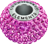 Swarovski 80101 14mm BeCharmed Pavé Beads with Rose Chatons on Rose base (12 pieces)